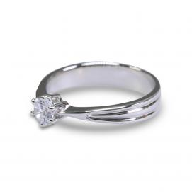 925 Silver 4.0mm Cubic Zirconia Ring