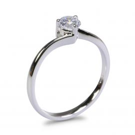 925 Silver 4.50mm Cubic Zirconia Ring