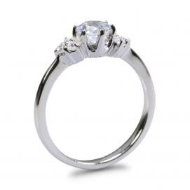 925 Silver 5.0mm Cubic Zirconia Ring