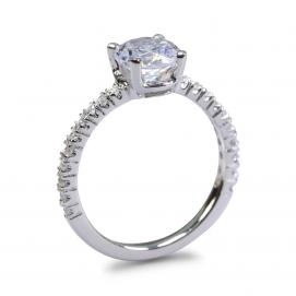 925 Silver 6.0mm Cubic Zirconia Ring