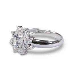 925 Silver 5.50mm Cubic Zirconia Ring