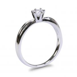 925 Silver 3.50mm Cubic Zirconia Ring