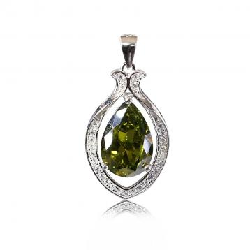 925 Silver Created Colour Stone Pendant
