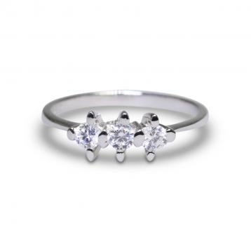 925 Silver Cubic Zirconia Ring.