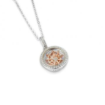 925 silver CZ Moving On pendant